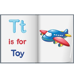 A picture of a toy in a book vector image vector image