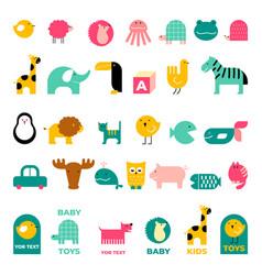 children s logos vector image