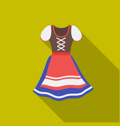 dirndl icon in flat style isolated on white vector image vector image