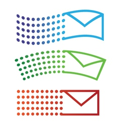 Email flying icons vector image vector image