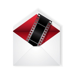 film strip in envelope vector image