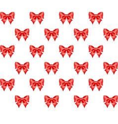 Seamless pattern of red bows vector image