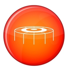 Trampoline icon flat style vector