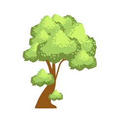 tree with lush green foliage element of a vector image vector image