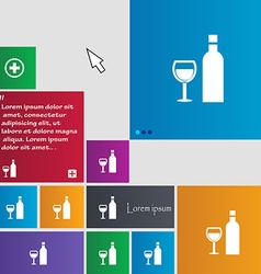 Wine icon sign buttons modern interface website vector