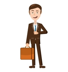 Businessman with his briefcase icon cartoon style vector image vector image