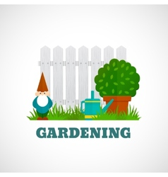 Gardening Poster Flat vector image