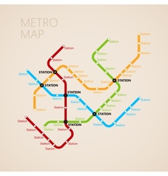 metro subway map design template transportation vector image
