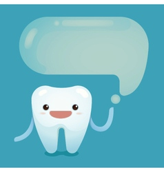 Tooth saying vector image vector image