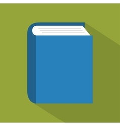Blue book school learning education online graphic vector