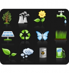 environment icons vector image