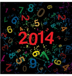 New 2014 year with digits background vector image