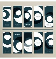 Ten pattern with abstract figures brochures vector