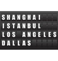 Airport information board vector image