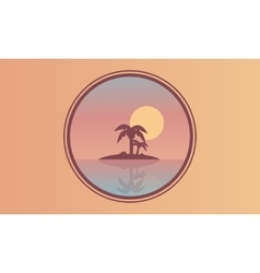 Beautiful landscape islands at sunset of vector image