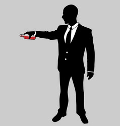 business man black and white 9 vector image