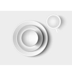 cutlery and crockery vector image