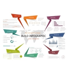 Infographic information page web template design vector image vector image