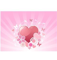 valentine floral background vector image