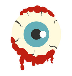 zombie eyeball icon isolated vector image vector image