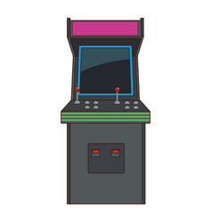 Arcade retro videogame cartoon vector