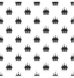 asking teamwork pattern seamless vector image