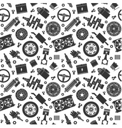 auto spare parts seamless pattern car repair vector image