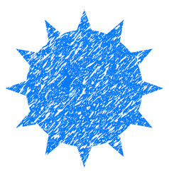 Bacterium grunge icon vector
