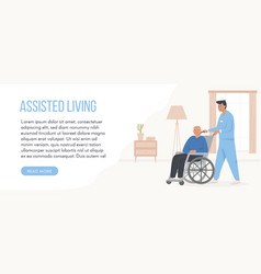banner for retirement home concept assisted vector image