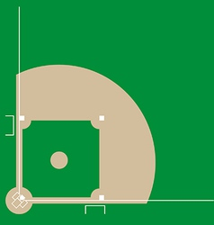 Baseball diamond vector image