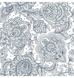 Beautiful Indian floral paisley seamless ornament vector image
