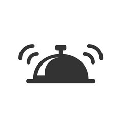 Bell icon in flat style alarm bell on white vector
