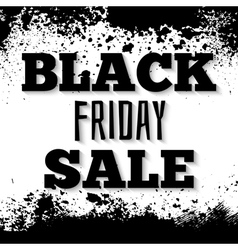 Black friday announcement on grunge ink splattered vector image