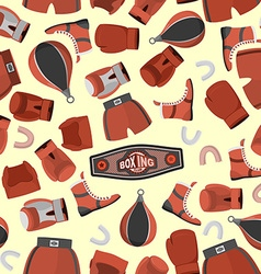 Boxing objects Seamless Pattern background Gloves vector image