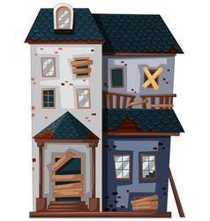 brickhouse in poor condition vector image