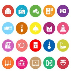 Cafe and restaurant flat icons on white background vector