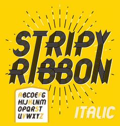 capital modern alphabet letters set trendy italic vector image