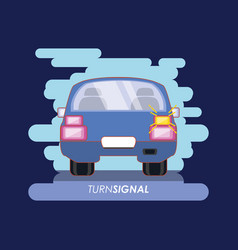 Car with turn signal vector