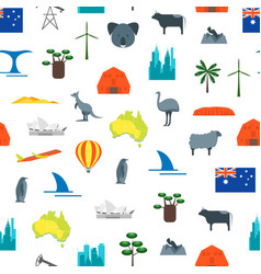 cartoon australia discover concept travel vector image