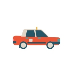 Chinese Police Car Simplified Icon vector image