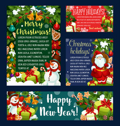 Christmas holidays greeting card banner template vector