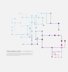 circuit technology background connected dots and vector image