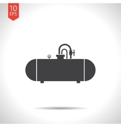 color flat cistern icon vector image