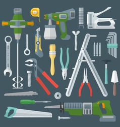 color flat style various house remodel instruments vector image
