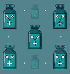 Colorful background with pattern of medicine vector