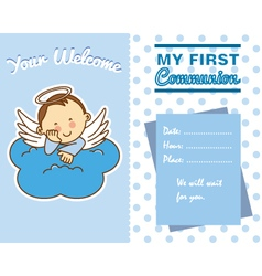 communion boy vector image vector image