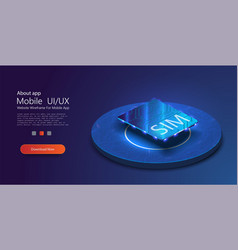 Concept for mobile sim card technology and network vector