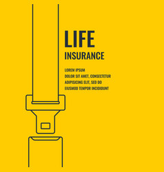 conceptual banner life insurance and property vector image