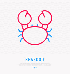 crab thin line icon modern vector image