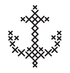crossed anchor icon simple style vector image